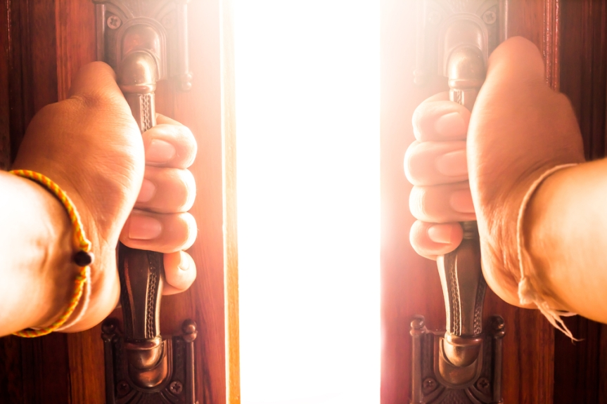 Foto open deur